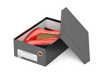 China Luxury Shoes Box Packaging Black Corrugated Paper Cardboard Material UV Coating fornecedor